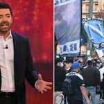 Assembramenti a Napoli per la morte di Maradona. La Vita in Diretta interrompe il