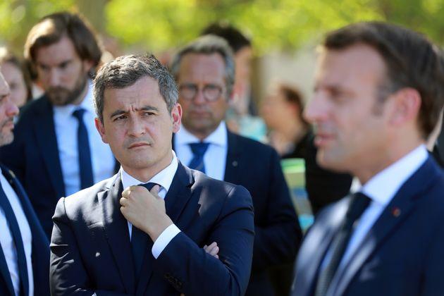 Gerald Darmanin et Emmanuel Macron (ici lors d'un déplacement à Chambord en juillet 2020)...