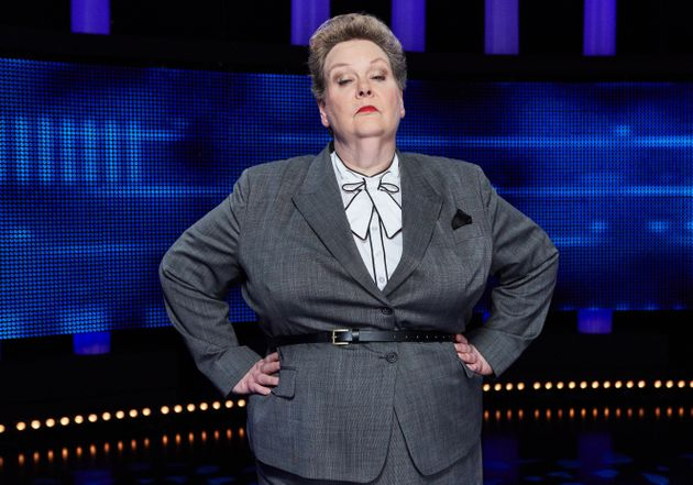 Anne Hegerty on the set of The