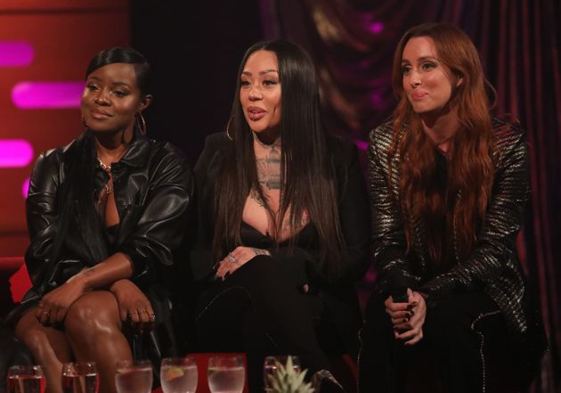 The original members of the Sugababes appearing on Graham Norton last