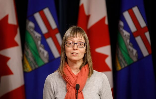 Alberta chief medical officer of health Dr. Deena Hinshaw updates media on the COVID-19 situation in...