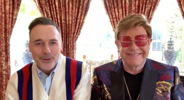 David Furnish and Sir Elton