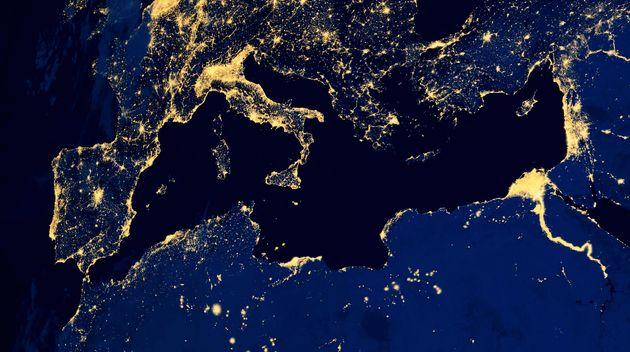 El Mediterráneo, fotografiado desde un