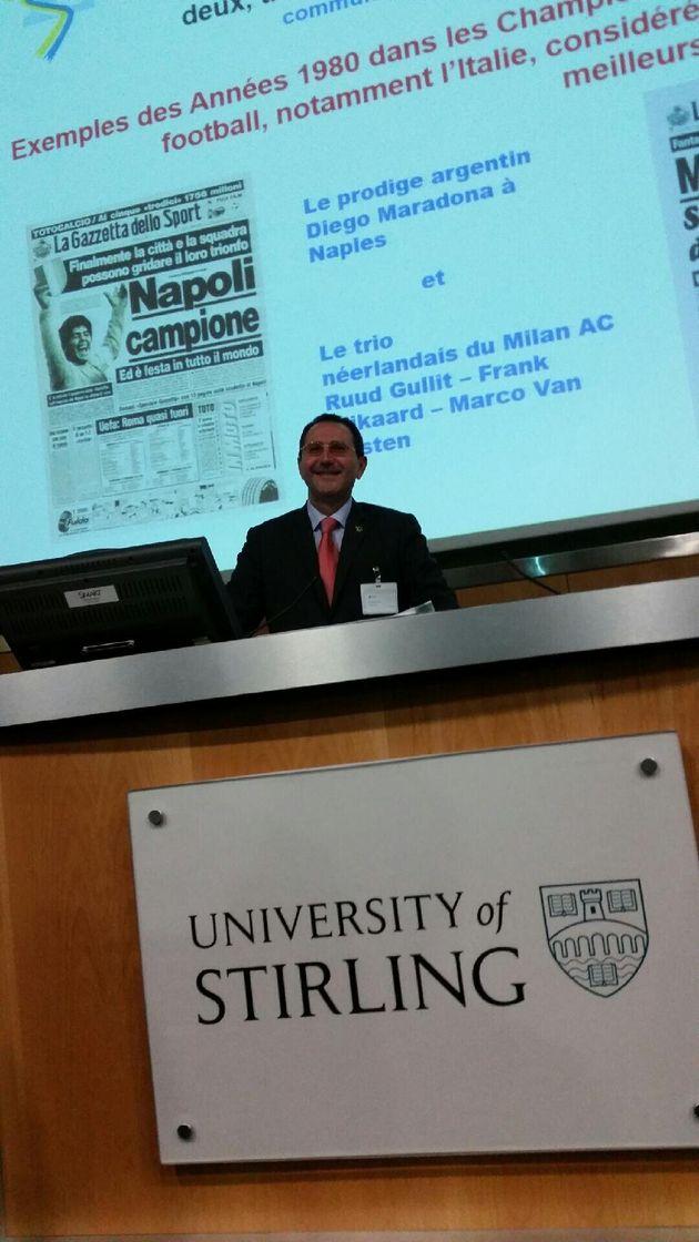 Michel Pautot, lors de l''une des présentations de l'étude Légisport