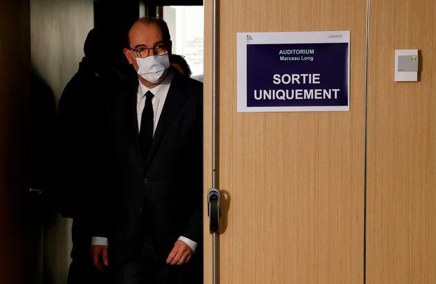 Jean Castex, ici lors de sa conférence de presse du 26 novembre sur le coronavirus, fait marche...