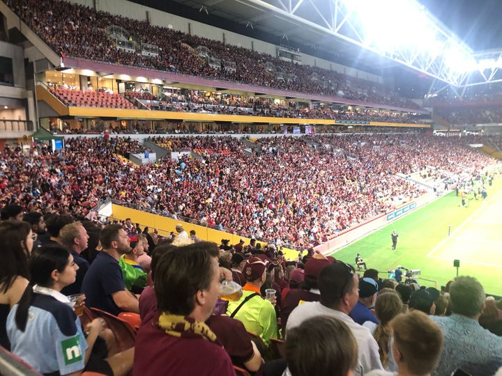 The NRL State of Origin contest brought together nearly 50,000 fans.