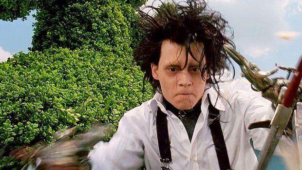 Johnny Depp, en 'Eduardo Manostijeras'.
