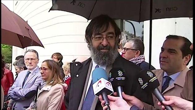 El juez Ricardo González tras su voto particular en el juicio contra 'La