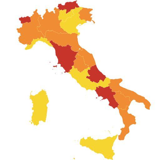 Italia divisa in