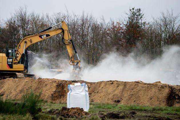 殺処分されたミンクは土に埋められる