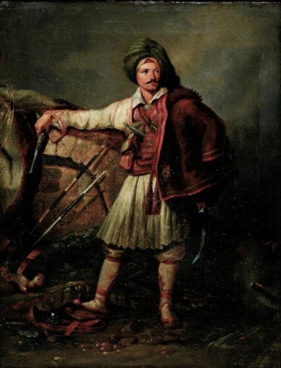 Πίνακας του Γερμανού ζωγράφου Peter von Hess (1792-1871). Παρουσιάζει Φιλέλληνα με Ελληνική