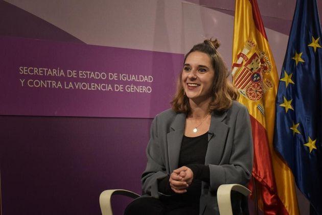 Noelia Vera durante la entrevista en el Ministerio de
