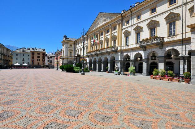 Aosta town sqaure,