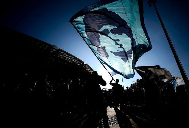 Fans de Maradona, en Buenos