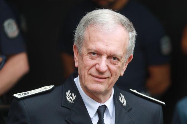 Le directeur général de la police française, Frédéric Veaux, ici au...