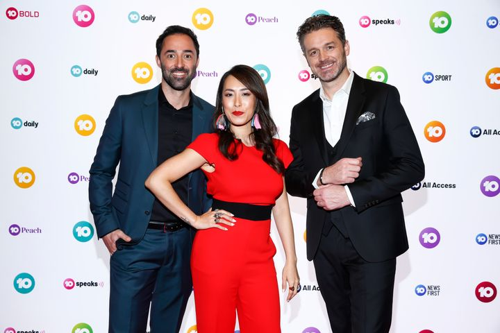 Could the 'renowned chef' be MasterChef judges Andy Allen (L) or Jock Zonfrillo (R)? Pictured here with co-star Melissa Leong.