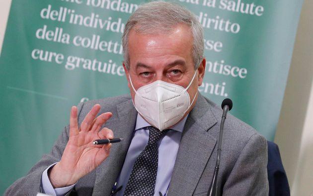 Franco Locatelli al ministero della Sanita' durante conferenza stampa sull'analisi dei dati Covid-19...