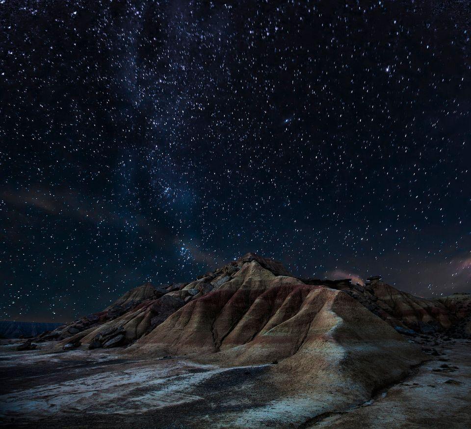 El paisaje lunar del desierto de las Bardenas