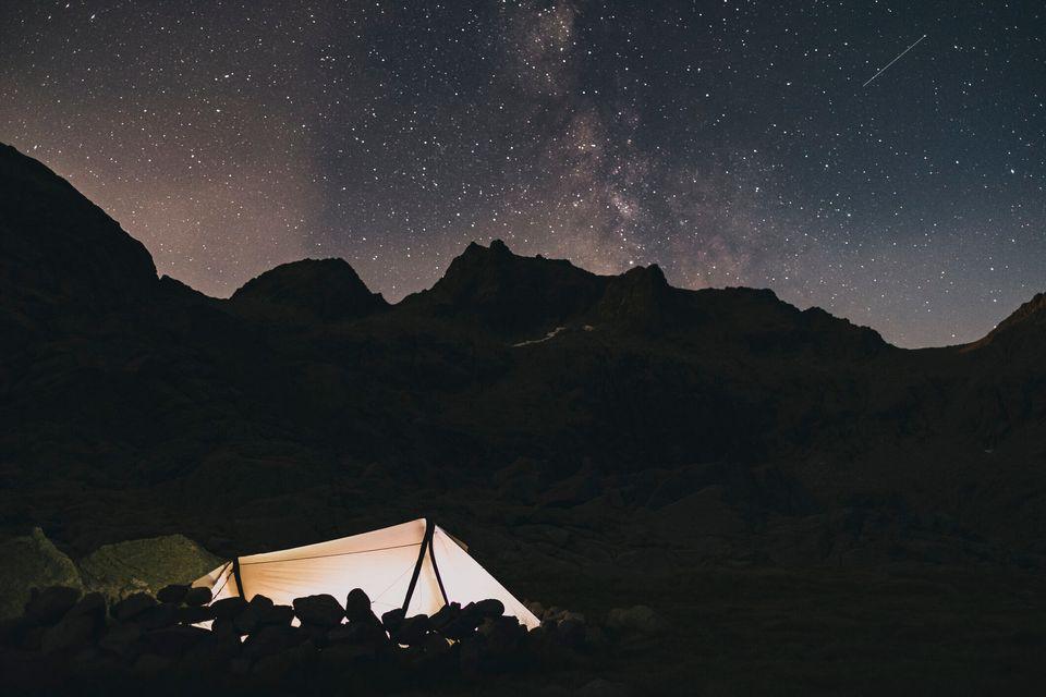 El cielo estrellado de la Sierra de