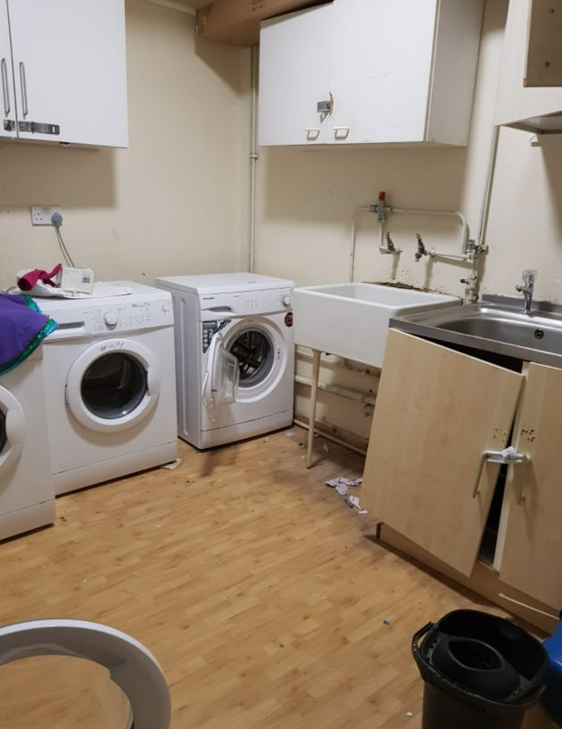 Part of the communal washing area, which serves around 40 women and young