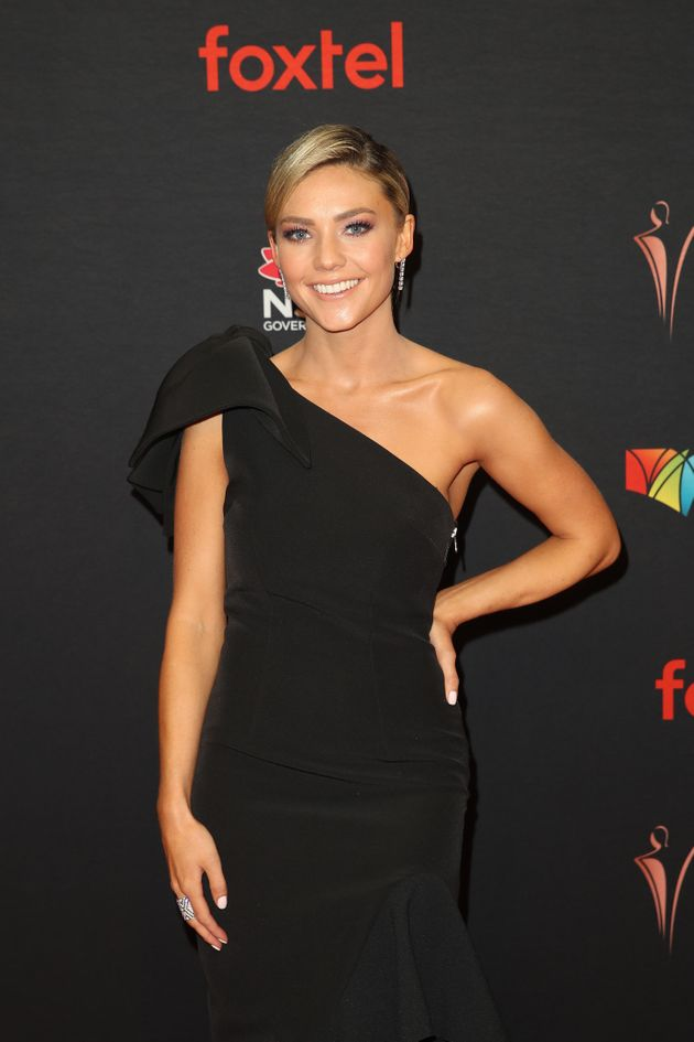 Sam Frost, pictured at last year's AACTA Awards, is also nominated. (Photo by Brendon Thorne/Getty Images...