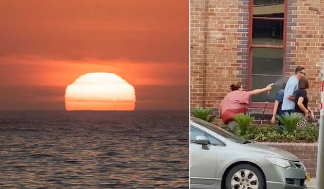 Australia's east coast struggled through a heatwave that saw temperatures hit 45 degrees