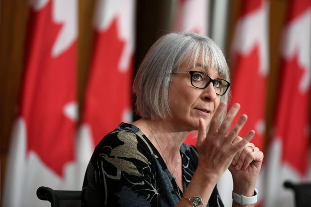 Minister of Health Patty Hajdu speaks at a news conference on the COVID-19 pandemic in Ottawa on