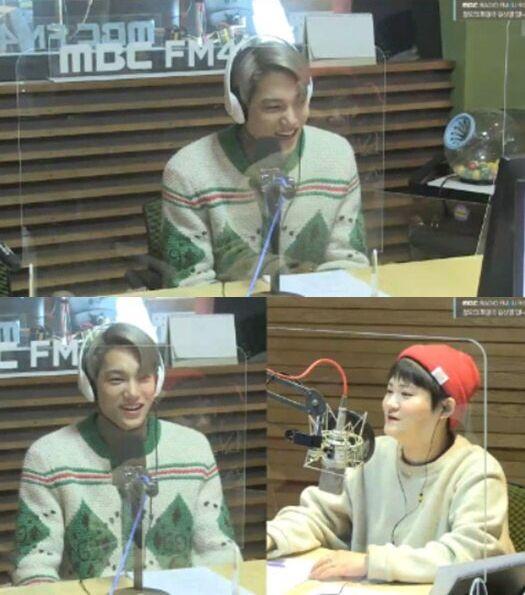 가수 카이/MBC 라디오 FM4U 정오의 희망곡 김신영입니다 보이는 라디오