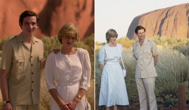 'The Crown' used computer generated imagery to create Prince Charles and Princess Diana's visit to Uluru...