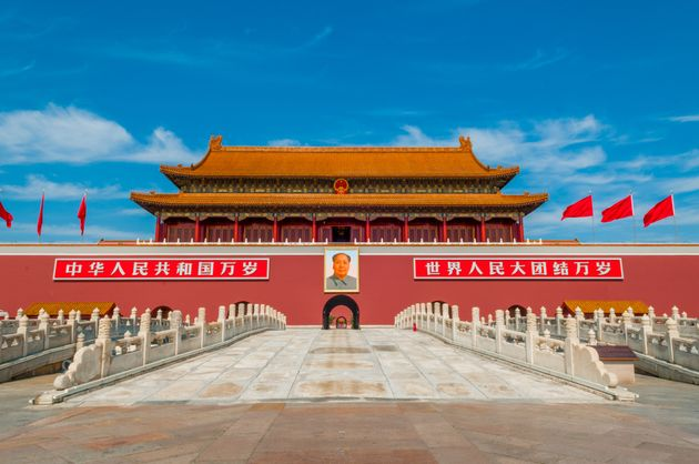 tiananmen square is an old building in