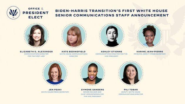 Biden sceglie 7 donne per comunicare la sua Casa Bianca