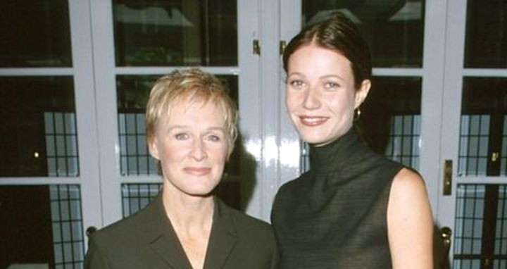 Glenn Close and Gwyneth Paltrow at a luncheon in November 1999.