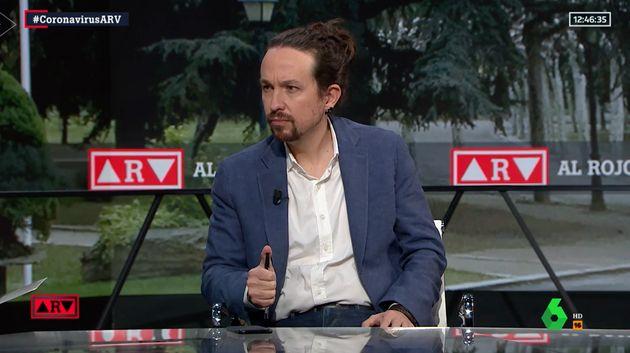 Pablo Iglesias, este lunes en 'Al Rojo Vivo' de