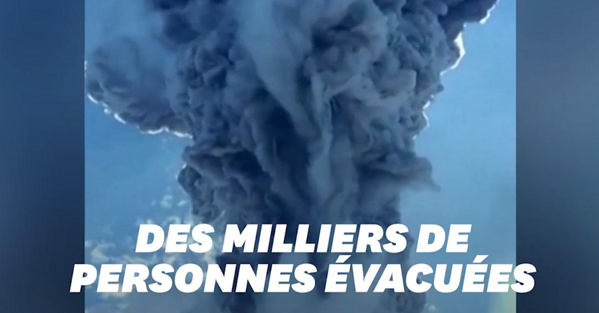 Les images de l'impressionnante éruption du volcan Lewotolo en Indonésie