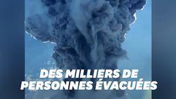 Les images de l'impressionnante éruption du volcan Lewotolo en