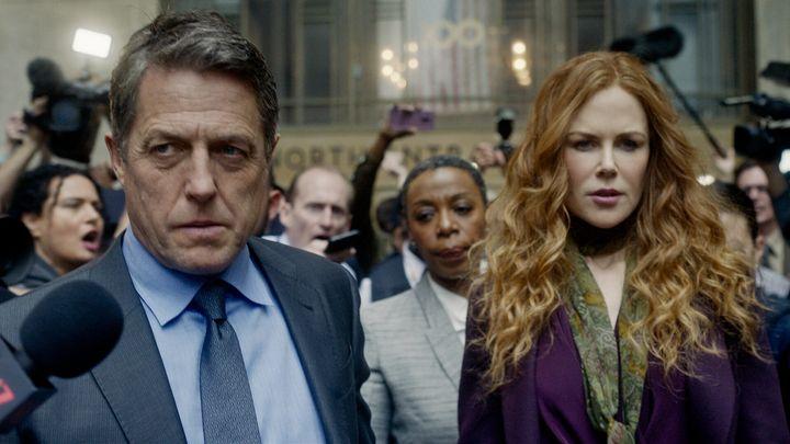 "Hugh Grant, Noma Dumezweni and Nicole Kidman in ""The Undoing."""