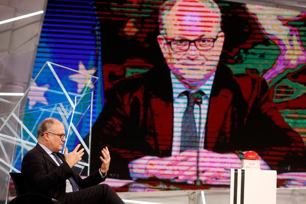 The Italian Minister of Economy Roberto Gualtieri appears as a guest on the new talk show ReStart. Rome...