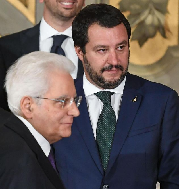 Salvini Mattarella (foto