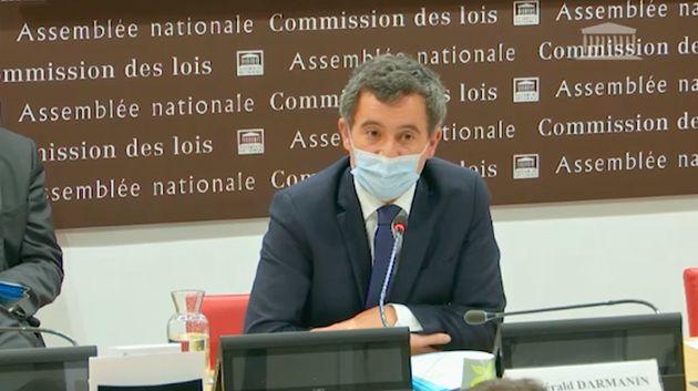 Gérald Darmanin en Commission des lois le 30 novembre