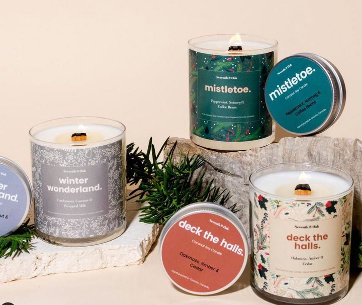 Seventh and Oak holiday candles