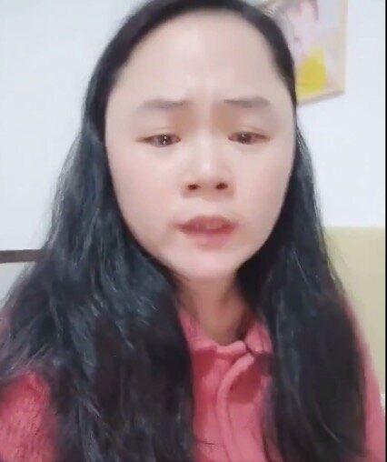 董瑤瓊さん本人とみられる女性(Twitterにアップされた動画より)