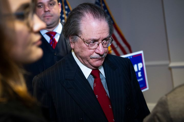 Joseph diGenova, attorney for President Donald Trump's campaign, at a Nov. 19 press conference where Trump lawyers Rudy Giuli