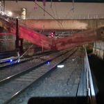 Le RER C coupé après la chute d'une poutre de chantier sur les