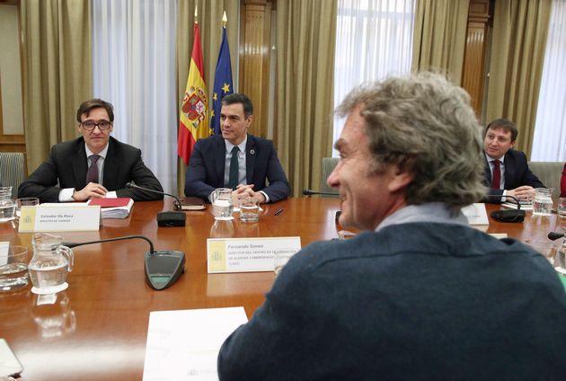 Pedro Sánchez, Salvador Illa y Fernando