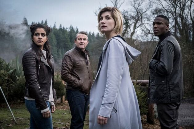 Bradley Walsh (middle left) and Tosin Cole (right) have already left Doctor