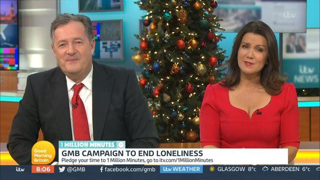 Piers Morgan and Susanna Reid on Good Morning