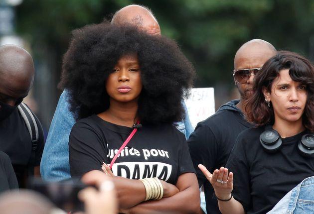 Assa Traoré lors d'une manifestation contre les violences policières, à Paris, le...