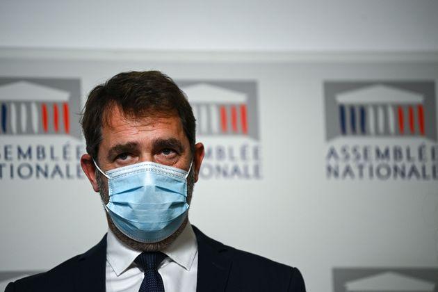 Christophe Castaner lors d'une conférence de presse le 30 novembre 2020 (ANNE-CHRISTINE...