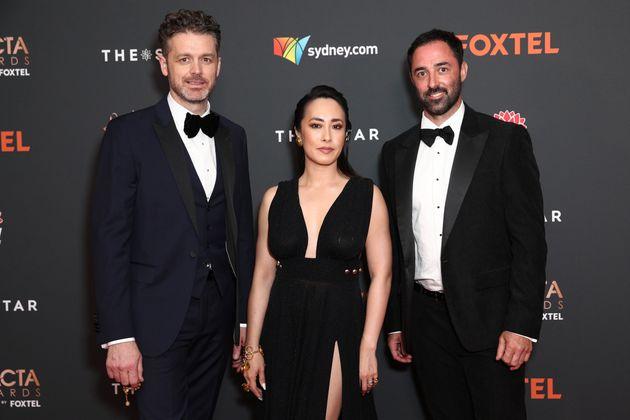 'MasterChef Australia' judges Jock Zonfrillo, Melissa Leong and Andy Allen arrive ahead of the 2020 AACTA...