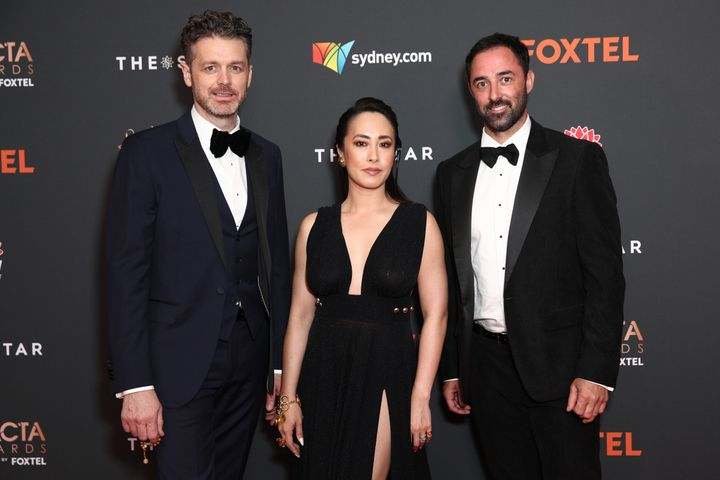 'MasterChef Australia' judges Jock Zonfrillo, Melissa Leong and Andy Allen arrive ahead of the 2020 AACTA Awards presented by Foxtel at The Star on November 30, 2020 in Sydney, Australia.